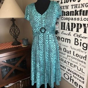 NWT Perceptions mint & black polka dot dress sz PS